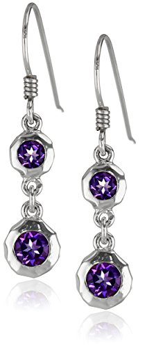 Zina Sterling Silver Sahara Collection Ripple Textured with Drop Earrings